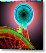 Space Needle Poster Work A Metal Print