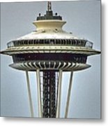 Space Needle Tower Seattle Washington Metal Print