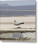 Space Shuttle Atlantis Landing Metal Print