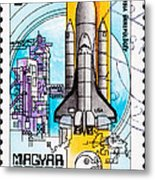 Space Shuttle Columbia Rocket Launch  Metal Print by Jim Pruitt