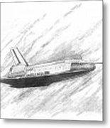 Space Shuttle Enterprise Metal Print