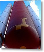 Space Shuttle Fuel Tank And Boosters Metal Print