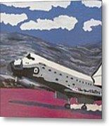 Space Shuttle Landing In The Desert Metal Print