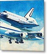 Space Shuttle's Last Flight Metal Print