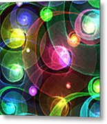 Space Snails Metal Print