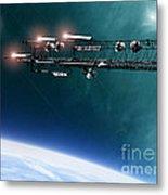 Space Station Communications Antenna Metal Print by Antony McAulay
