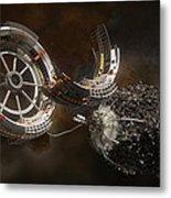 Space Station Construction Metal Print by Bryan Versteeg