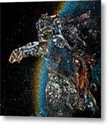 Space Turtle Metal Print by Petros Yiannakas