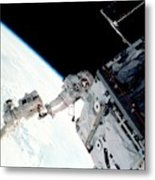Space Walk On The Iss Metal Print