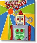 Spaced Out   Toyrobot Metal Print