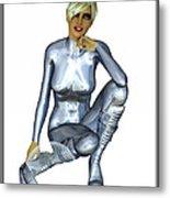 Spacegirl 8... Metal Print