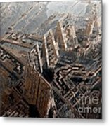 Spaceport Metal Print by Bernard MICHEL