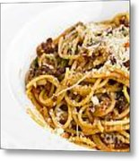 Spaghetti Noodles With Meat Sauce Metal Print by Tosporn Preede