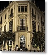 Spain At Night Metal Print
