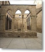 Spain. Cardona. Castle And Collegiate Metal Print