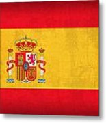 Spain Flag Vintage Distressed Finish Metal Print