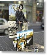 Painter In Spain Series 23 Metal Print