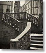 Plaza Stairs In Spain Series 24 Metal Print