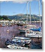 Boats In Spain Series 26 Metal Print