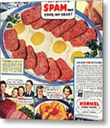 Spam 1960s Usa Hormel Meat Tinned Metal Print