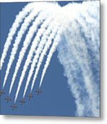 Spanish Air Force C101 Of The Patrulla Metal Print
