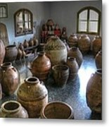 Spanish Pottery Shop Metal Print