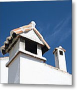 Spanish Rooftops Metal Print by Anne Gilbert