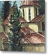 Spanish Rooftops Metal Print