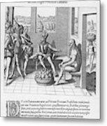 Spanish Traveller Girolamo Benzoni Metal Print