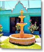 Spanish Water Fountain De San Francisco Conchos Metal Print