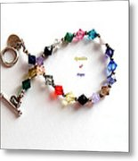 Sparkles Of Hope Cancer Bracelet Metal Print by Barbara Griffin