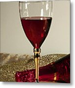 Sparkling Wine For One Metal Print