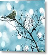 Sparrow In A Branch Metal Print