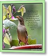 Sparrow Inspiration From The Book Of Luke Metal Print
