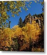 Spearfish Canyon In Autumn Color Metal Print