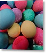 Speckled Easter Eggs Metal Print