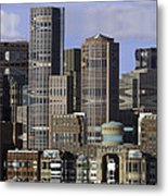 Spectacle View Pixelated Metal Print