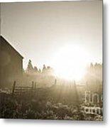 Spectacular Sepia Sunrise Metal Print