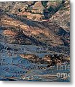 Spectacular View Of Rice Terrace Metal Print