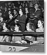 Spectators At The Circus Metal Print