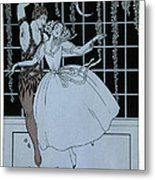 Spectre De La Rose Metal Print by Georges Barbier
