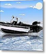Speed Boating Metal Print