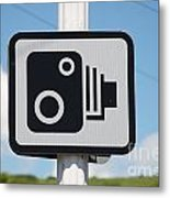 Speed Camera Sign Folkestone Metal Print