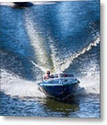 Speed On The Water Metal Print