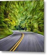 Speeding Through The Forest E42 Metal Print