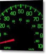 Speedometer On Black Isolated Metal Print