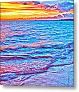 Spencer Beach Sunset Metal Print