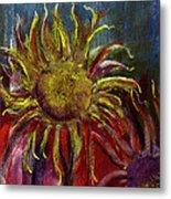 Spent Sunflower Metal Print