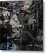 Sphere And Reflections Metal Print