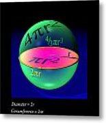 Sphere Equations Maths Poster Black Metal Print